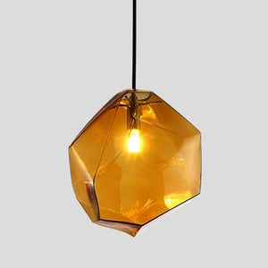 Creative Colorful Glass Pendant Lamps (Bulb Included) brown glass / S-180mm