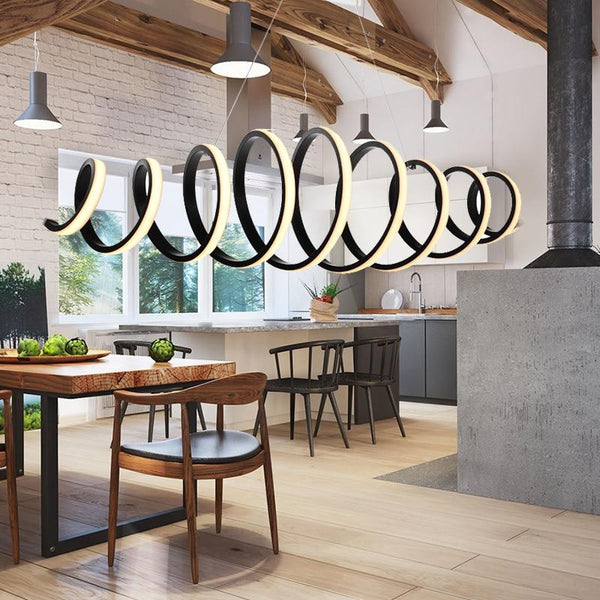 Suspended Spiral Luminaire Pendant Light