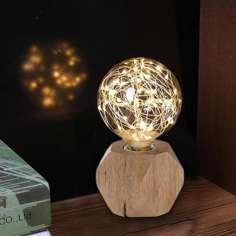 Modern Wooden String light Table Lamp-Decorative Night Lamp-[variant_title]-Khadiza Electricals