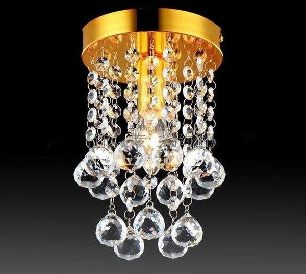 Modern Chrome/Golden Lustre LED Crystal Ball Chandelier