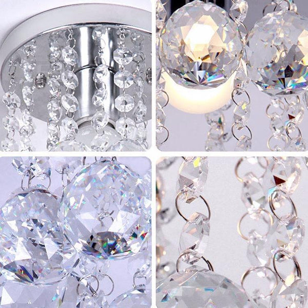 Modern Chrome/Golden Lustre LED Crystal Ball Chandelier-Decorative Chandelier-[variant_title]-Khadiza Electricals
