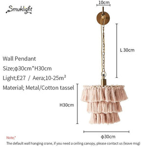 Cotton Tassel Bohemian Pendent Light (E27) Dia 30cm 367