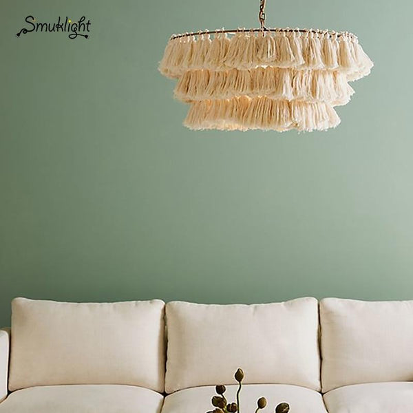 Cotton Tassel Bohemian Pendent Light (E27)