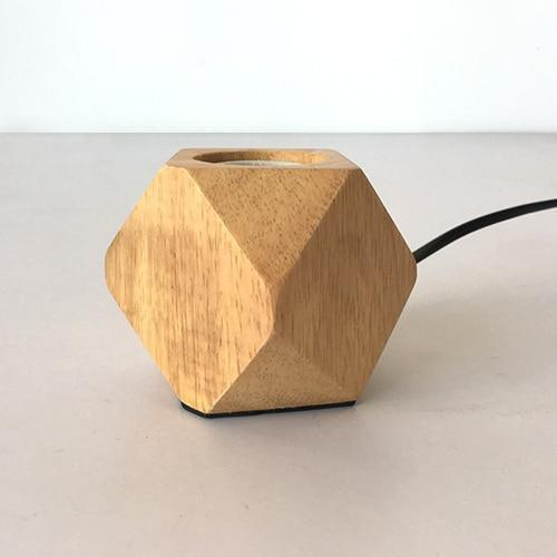 Modern Wooden Table Lamps-Decorative Table Lamp-A / Button switch-Khadiza Electricals