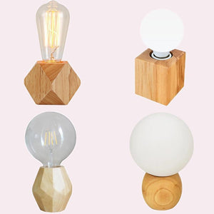 Modern Wooden Table Lamps-Decorative Table Lamp-[variant_title]-Khadiza Electricals