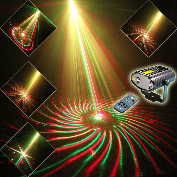 Mini R&G Laser Projector (24 Patterns) USA plug