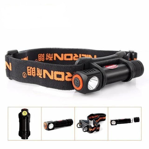 Waterproof Mini LED Head Flashlight (1W, 72 Meter Beam)-Flashlight/ Torch-1Pc / China-Khadiza Electricals