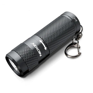 Waterproof Mini Dual Fuel LED Flashlight  with Keychain (400LM, 5 Modes)-Flashlight/ Torch-[variant_title]-Khadiza Electricals