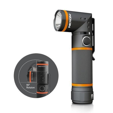 Waterproof Ultra Bright 90 Degree LED Flashlight (3 Modes, 300LM)-Flashlight/ Torch-[variant_title]-Khadiza Electricals