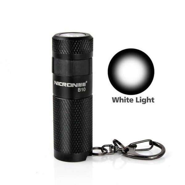 Waterproof USB Rechargeable LED Flashlight with Keychain (3W, 3 Modes) 1PC / China