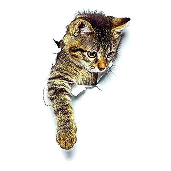 3D Cats Wall Sticker-Non Electric Home Decor-Cat 9-Khadiza Electricals