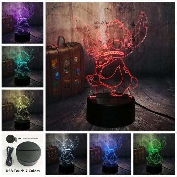 3D Cute LED Night Table Light (7 Color Change )-Decorative Night Lamp-Touch One 7 Color4 / China5-Khadiza Electricals