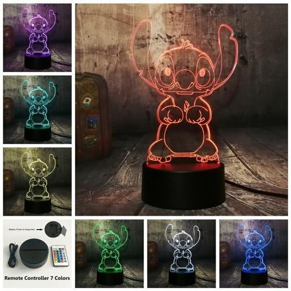 3D Cute LED Night Table Light (7 Color Change )-Decorative Night Lamp-Controller 7 Color / China-Khadiza Electricals