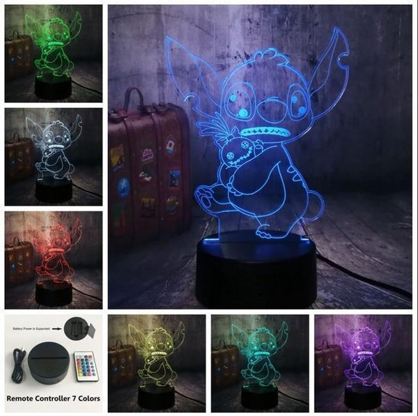 3D Cute LED Night Table Light (7 Color Change )-Decorative Night Lamp-Controller 7 Color8 / China9-Khadiza Electricals