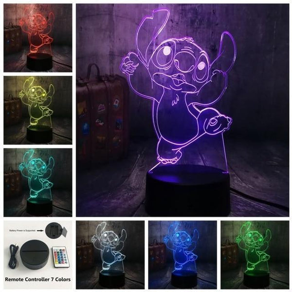 3D Cute LED Night Table Light (7 Color Change )-Decorative Night Lamp-Controller 7 Color20 / China21-Khadiza Electricals