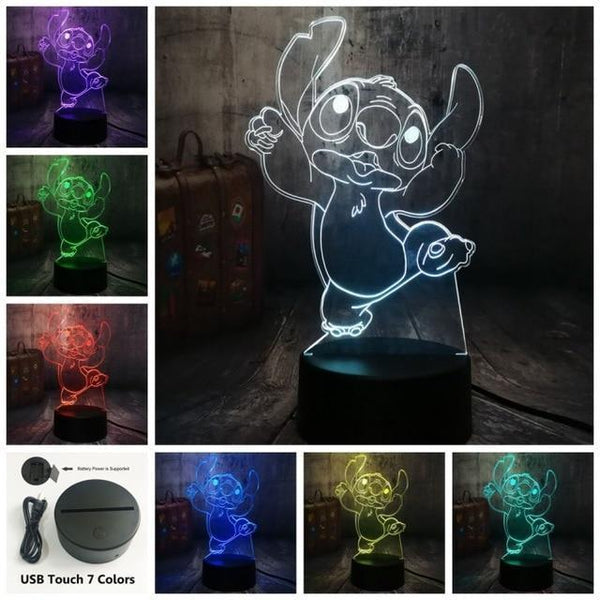 3D Cute LED Night Table Light (7 Color Change )-Decorative Night Lamp-Touch One 7 Color16 / China17-Khadiza Electricals