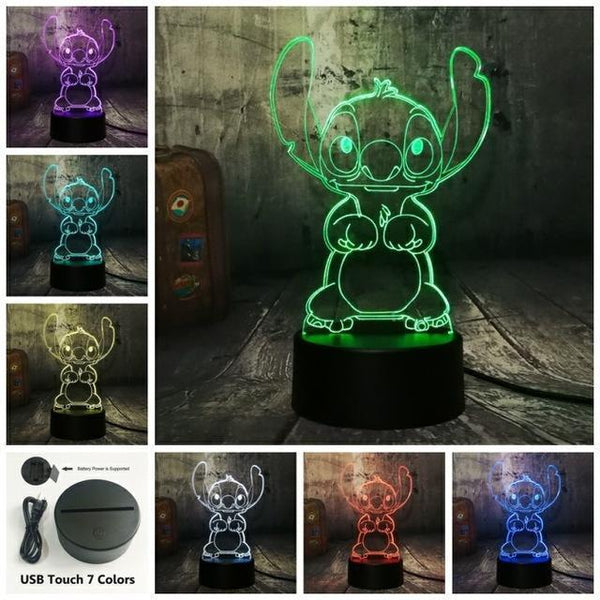 3D Cute LED Night Table Light (7 Color Change )-Decorative Night Lamp-Touch One 7 Color / China-Khadiza Electricals