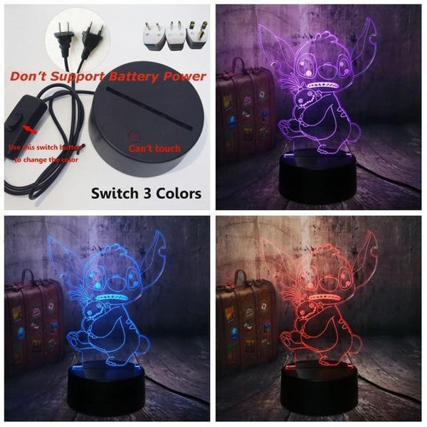 3D Cute LED Night Table Light (7 Color Change )-Decorative Night Lamp-Switch One 3 Color0 / China1-Khadiza Electricals