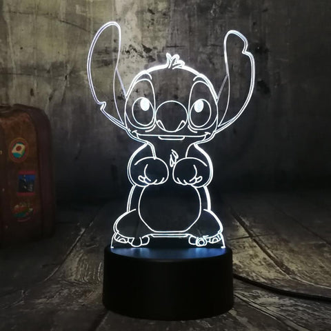 3D Cute LED Night Table Light (7 Color Change )