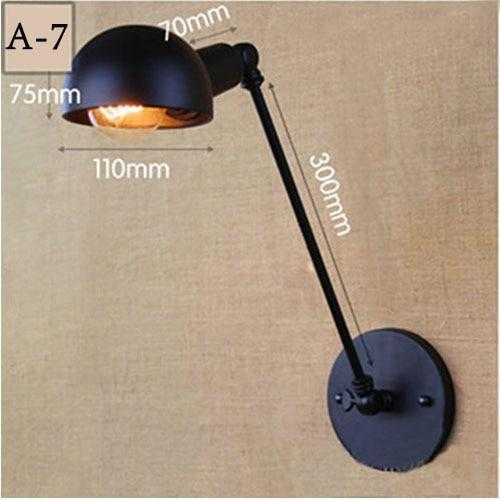 Vintage Adjustable  Metal Long Arm Wall Lamp-Decorative Wall Lamp-A7 / Led Bulb-Khadiza Electricals