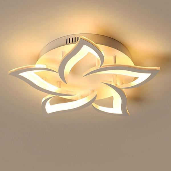 LED Lotus Chandelier-Decorative Chandelier-5 heads / Warm white no remote-Khadiza Electricals