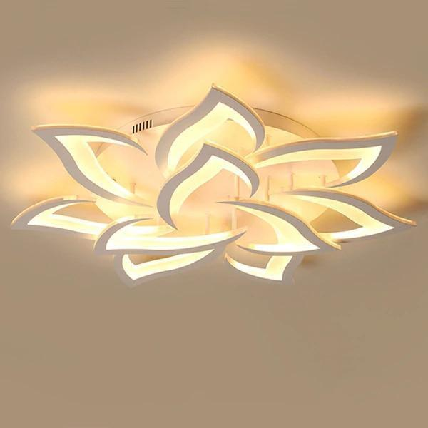 LED Lotus Chandelier-Decorative Chandelier-10 heads / Warm white no remote-Khadiza Electricals