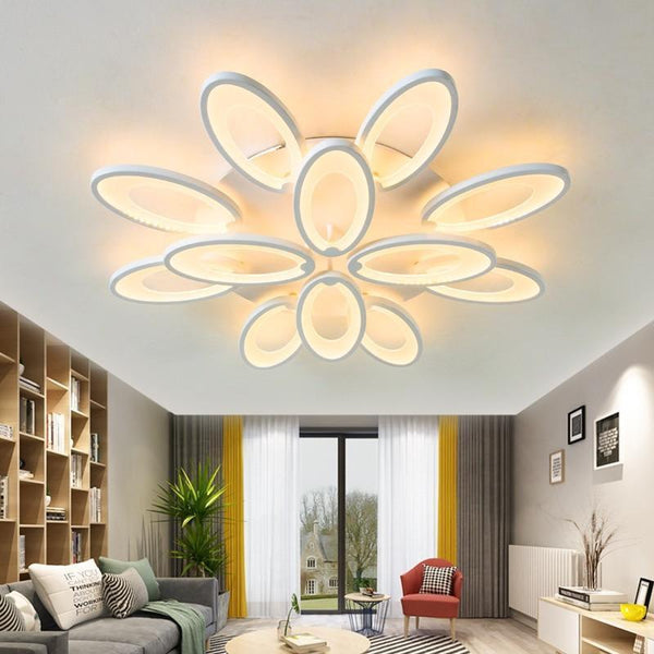 Gaillardia Flower Shaped LED Chandelier with App Control-Decorative Chandelier-12 heads / Warm white no remote-Khadiza Electricals