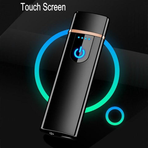 Windproof Thin USB Powered Electronic Lighter with Touch Screen-Other Electrical Products-[variant_title]-Khadiza Electricals