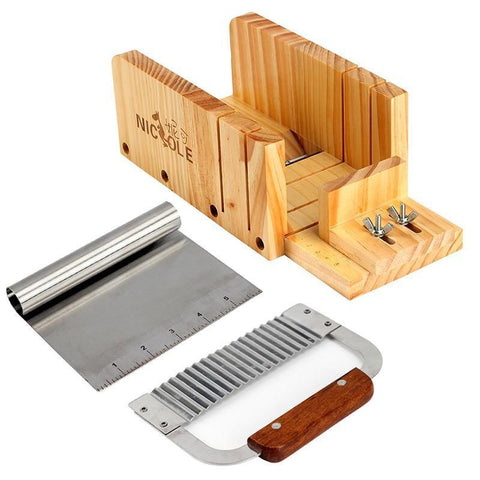 Wooden Loaf Cutter Box with 2 Pieces Stainless Steel Blades (DIY, 4 Adjustable) Default title 0