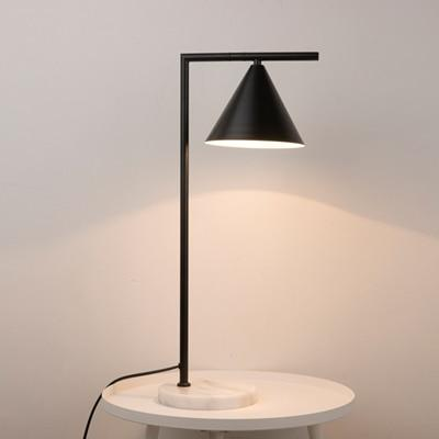 Gold/ Black Nordic Table Lamp With Marble Standing (E27)