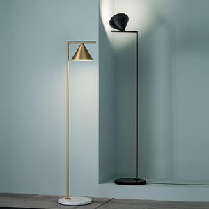 Gold/ Black Nordic Floor Lamp With Marble Standing (E27)