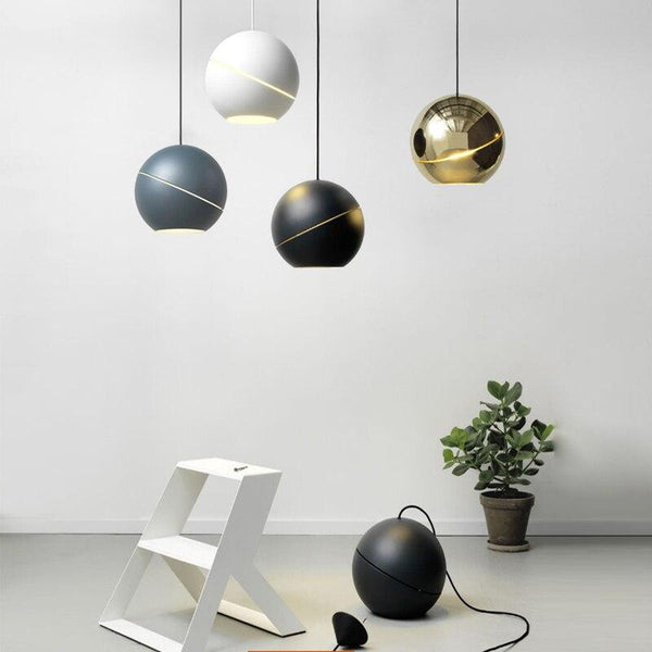 Nordic Round Moon Pendant Light
