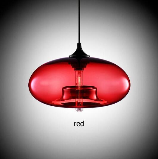 Glass lustre Pendant Lamp(7 Color)-Decorative Pendant Lamp-red / Russian Federation-Khadiza Electricals
