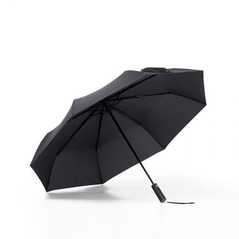 Automatic Three Fold Aluminum Body Umbrella with UV Protect Black