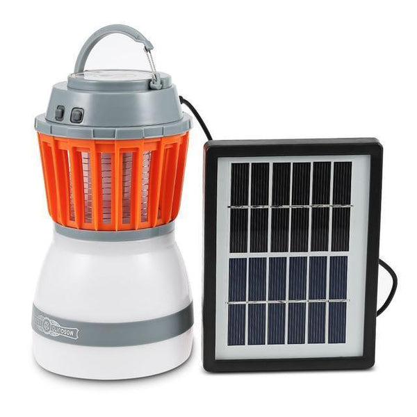 Portable LED Camping Lamp cum Mosquito Killer With Solar USB Charging-Solar Camping Lamp-With Solar Panel-Khadiza Electricals