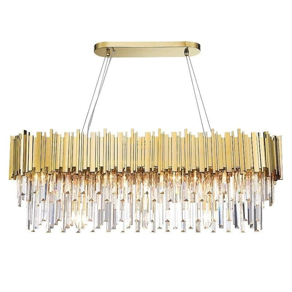 Golden Stainless Steel Crystal Chandelier