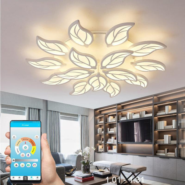 Leaf Styled Led Ceiling Chandelier with App Control-Decorative Chandelier-[variant_title]-Khadiza Electricals