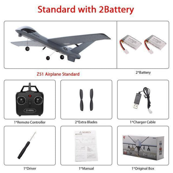 Remote Controlled Airplane Plane (20 Minutes Flight Time)-Toy-Z51 2B color box-Khadiza Electricals