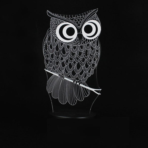 Owl Night Lamp With Touch Switch(3D Hologram Illusion)