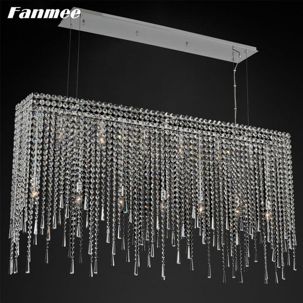 Vintage  Crystal Chain Chandelier Light