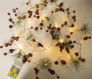 Pinecone LED string lights for Christmas Tree and Home Decoration
