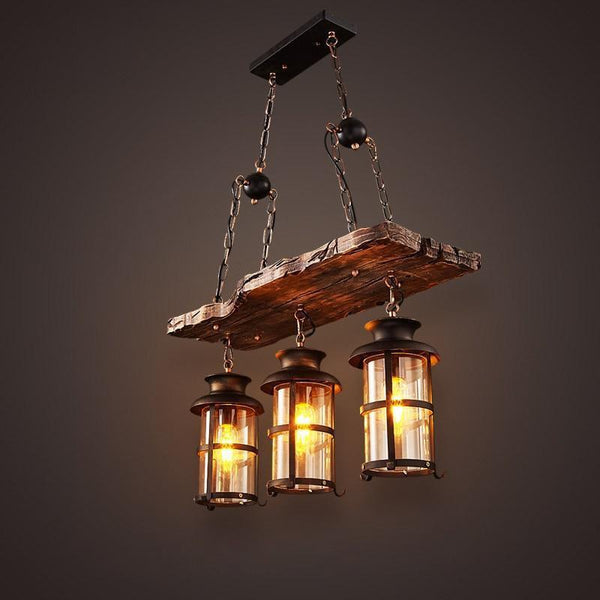 Old Retro Boat Wood led Pendant Lamp-Decorative Pendant Lamp-[variant_title]-Khadiza Electricals