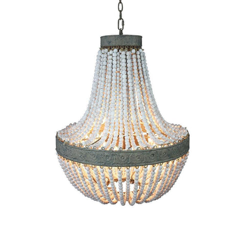 Vintage  Wooden Beads Pendant Lamp-Decorative Pendant Lamp-[variant_title]-Khadiza Electricals