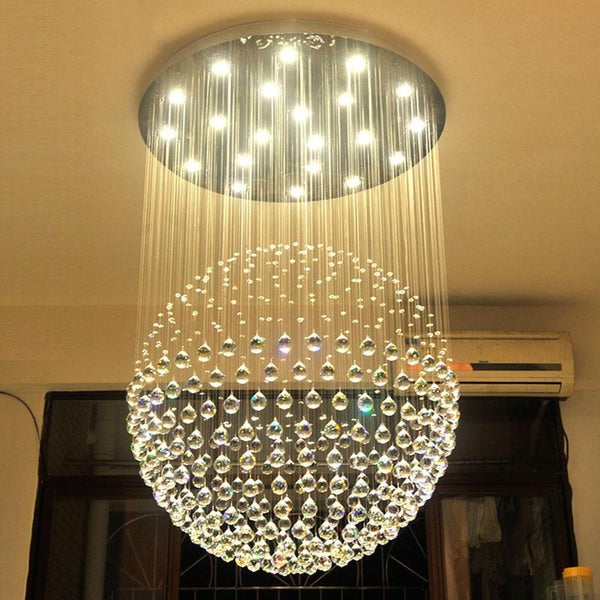 Ball Shaped Crystal Chandelier