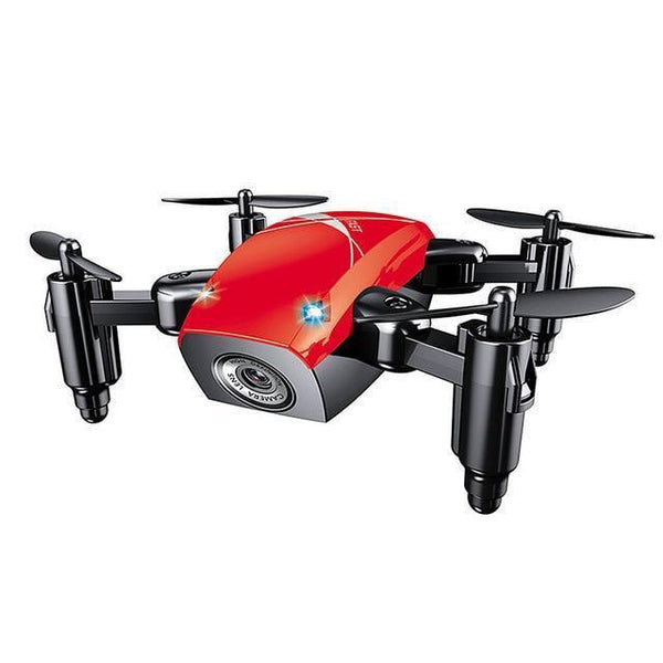 S9HW Remote Controlled Mini Quad-copter Drone (HD Camera, WiFi)-Toy-red no camera / China-Khadiza Electricals