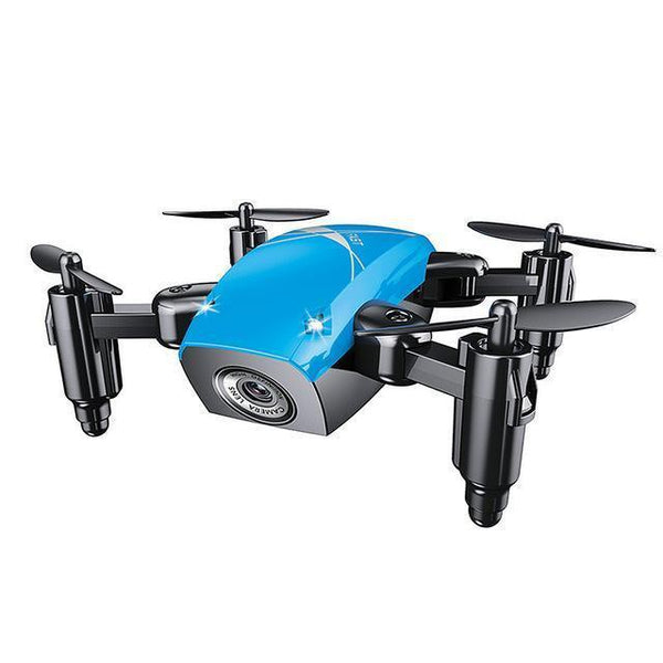 S9HW Remote Controlled Mini Quad-copter Drone (HD Camera, WiFi)-Toy-blue with camera / China-Khadiza Electricals