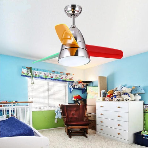 Colorful Ceiling Fan with LED Light (Bulbs Included)-Decorative Fan-[variant_title]-Khadiza Electricals