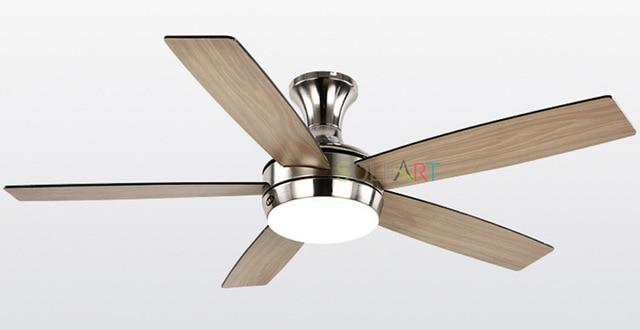 Vintage Wooden Ceiling Fan with Remote Control & Decorative Lights-Decorative Fan-wooden with nickel / D107cm-warm light / hanging and ceiling-Khadiza Electricals