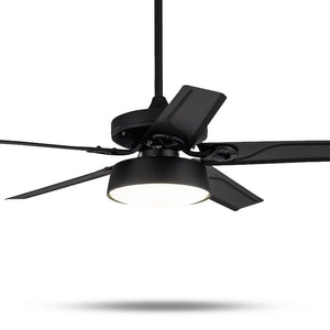 Modern Metal Design Ceiling Fans With Light (Bulbs Included)