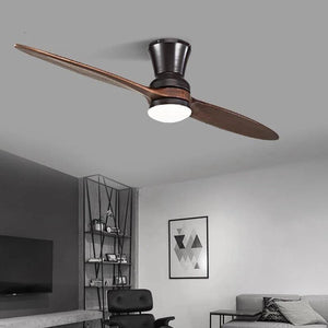 Vintage Wooden Ceiling Fan With/Without Decorative Light